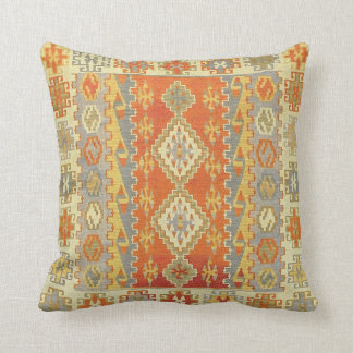 Blue And Rust Pillows - Decorative & Throw Pillows Zazzle