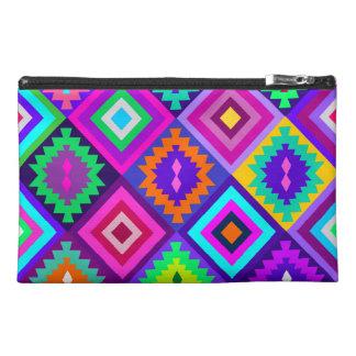 colorful kilim,geometric tribal pattern travel accessory bag