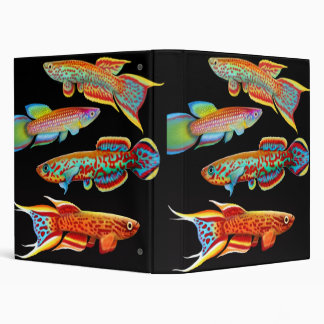 Colorful Killifish Avery Binder