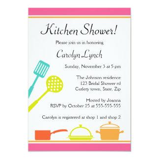 """Colorful kitchen bridal shower invitations 5"""" x 7"""" invitation card"""