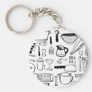 Colorful Kitchen Patterns Keychain