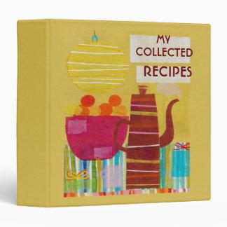 Colorful Kitchen Recipe Binder