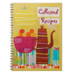 Colorful Kitchen Recipe Journal Spiral Note Books