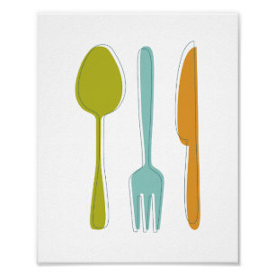 Kitchen Utensils Posters Zazzle