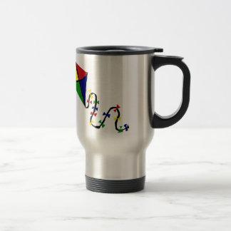 Colorful Kite Flying Art 15 Oz Stainless Steel Travel Mug