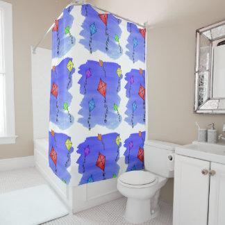 Colorful Kites - BIG Shower Curtain