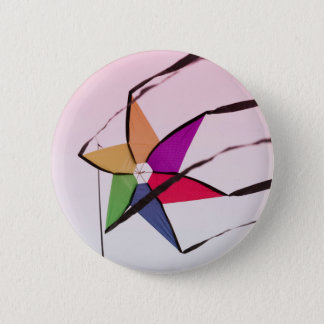 colorful kites flying in the sky pinback button