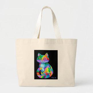 Colorful Kitten Jumbo Tote Bag