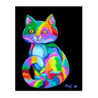 Colorful Kitten Postcard