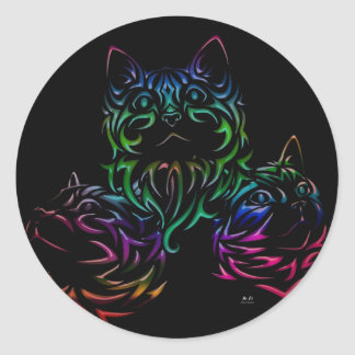 Colorful Kittens Sticker