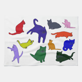 Colorful Kitties towel