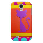 Colorful Kitty Cat Polka Dot Pattern Samsung Galaxy S4 Case