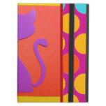 Colorful Kitty Cat Polka Dot Pattern iPad Folio Cases