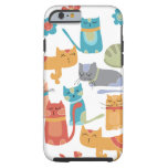 Colorful Kitty Cats Gifts for Cat Lovers Tough iPhone 6 Case