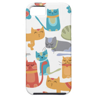Colorful Kitty Cats Print Gifts for Cat Lovers iPhone 5 Covers