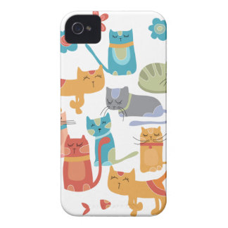 Colorful Kitty Cats Print Gifts for Cat Lovers iPhone 4 Case-Mate Case