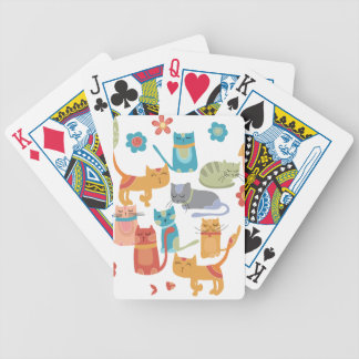 Colorful Kitty Cats Print Gifts for Cat Lovers Bicycle Card Deck