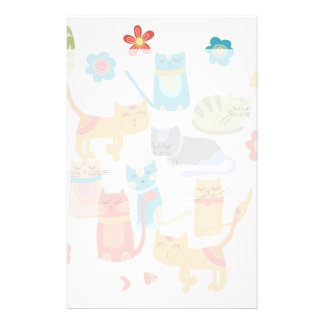 Colorful Kitty Cats Print Gifts for Cat Lovers Stationery