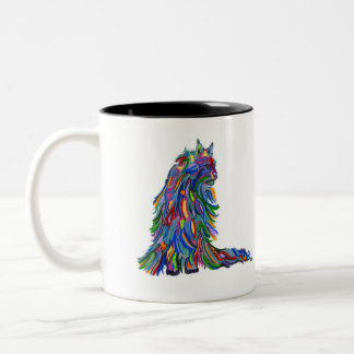 Colorful Kitty Two-Tone Coffee Mug