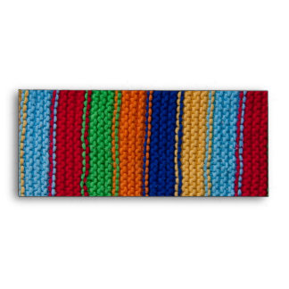 Colorful knitted stripes envelope