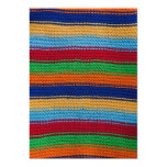 Colorful knitted stripes personalized announcements