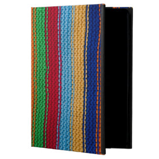 Colorful knitted stripes cover for iPad air
