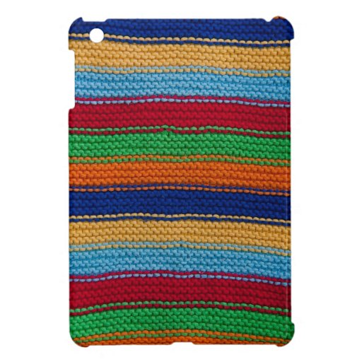Colorful knitted stripes iPad mini cases