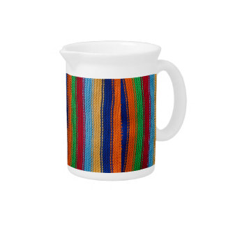 Colorful knitted stripes drink pitchers