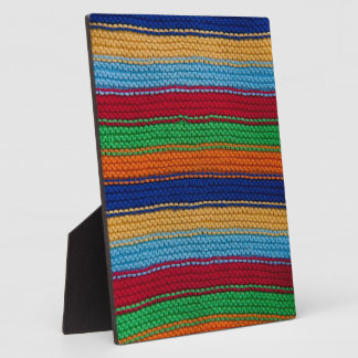Colorful knitted stripes plaques