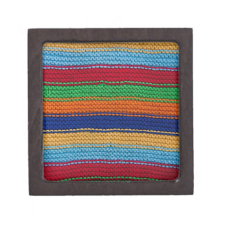 Colorful knitted stripes premium gift boxes