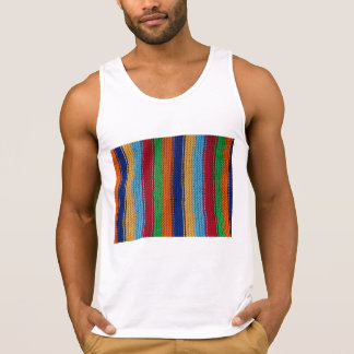 Colorful knitted stripes tank top