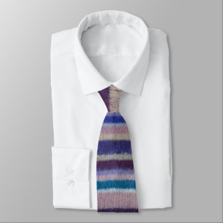 colorful knitted stripes vintage style fun design neck tie
