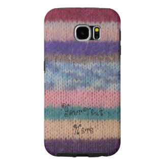 colorful knitted stripes vintage style fun design samsung galaxy s6 case