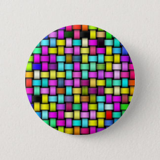 Colorful knitted texture button