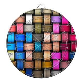 Colorful knitted texture dart board