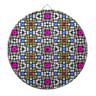 Colorful knitted texture dartboards