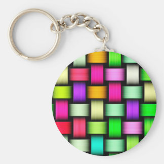 Colorful knitted texture keychain