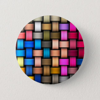 Colorful knitted texture pinback button