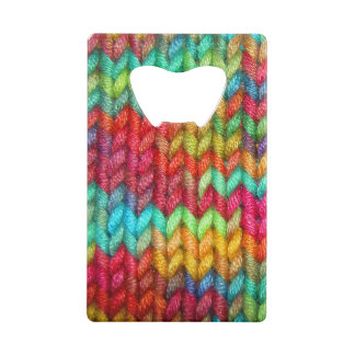 Colorful Knitters Yarn Credit Card Bottle Opener