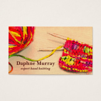 Colorful Knitting Business Card