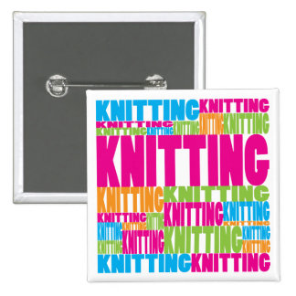 Colorful Knitting Button