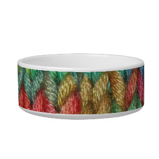 Colorful Knitting Cat or Dog Bowl