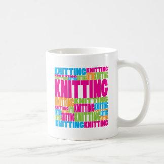 Colorful Knitting Coffee Mug