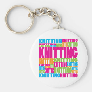 Colorful Knitting Keychain
