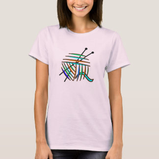 Colorful Knitting Needles and Yarn T-Shirt