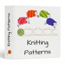 Colorful Knitting Sheep Jumping Binder