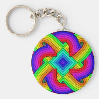Colorful knots keychain