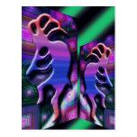 Colorful Kokopelli Abstract Postcard