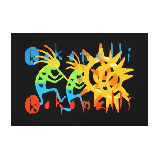 Colorful Kokopelli Canvas Print