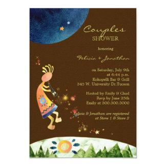 Colorful Kokopelli Couples Shower Invitation